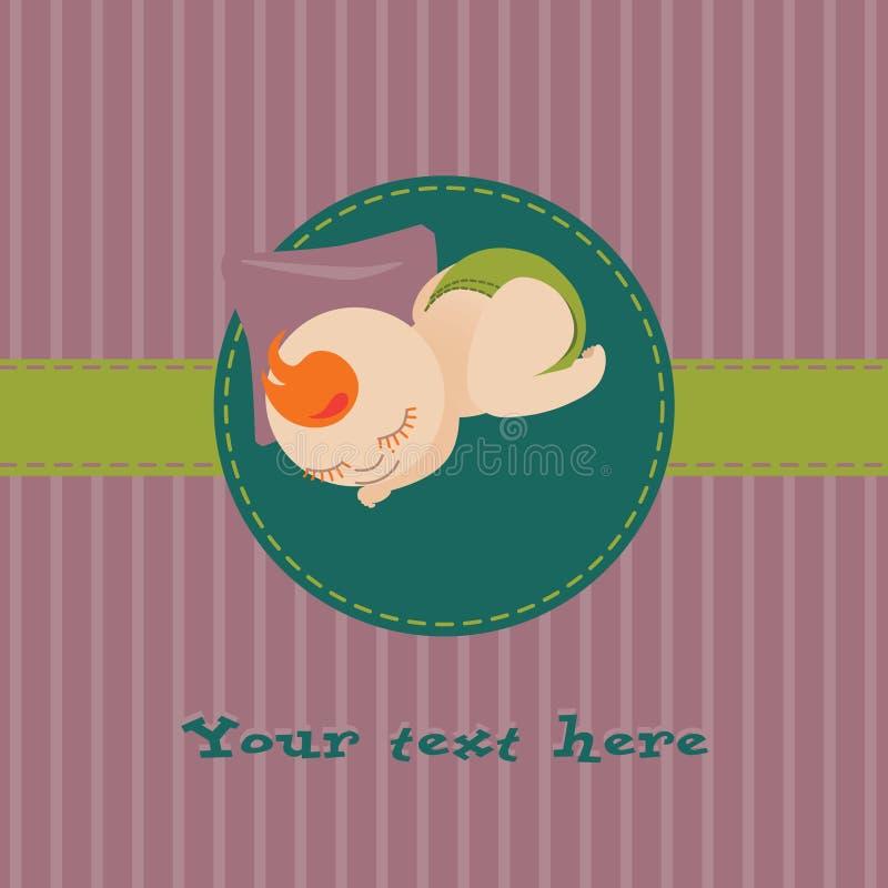 Tarjeta de felicitaciones del bebé imagen de archivo