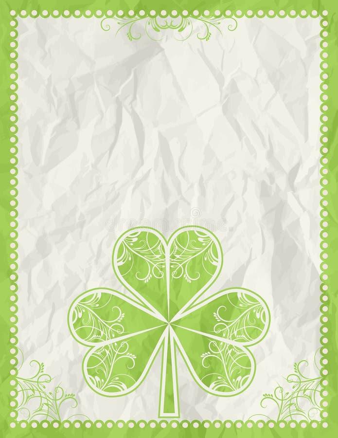 Tarjeta de felicitaciones para el día del St. Patrick ilustración del vector