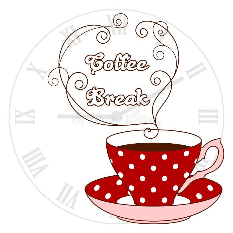 Tarjeta de fichar del café ilustración del vector