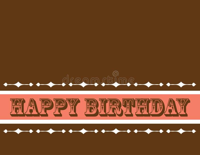 Tarjeta de Greetng del cumpleaños fotos de archivo libres de regalías