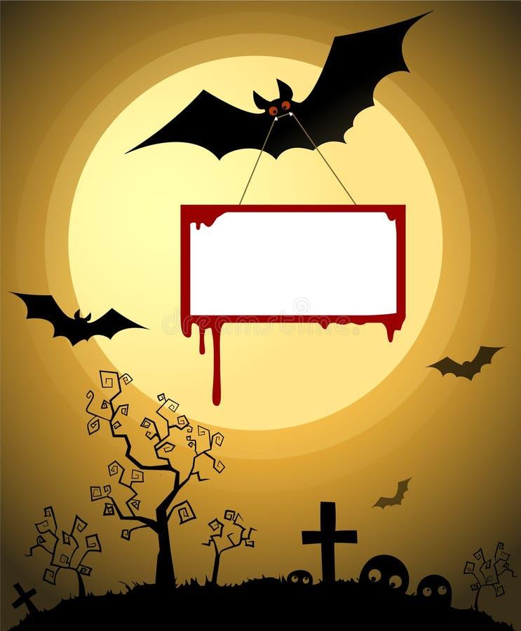 Tarjeta de Halloween fotografía de archivo libre de regalías