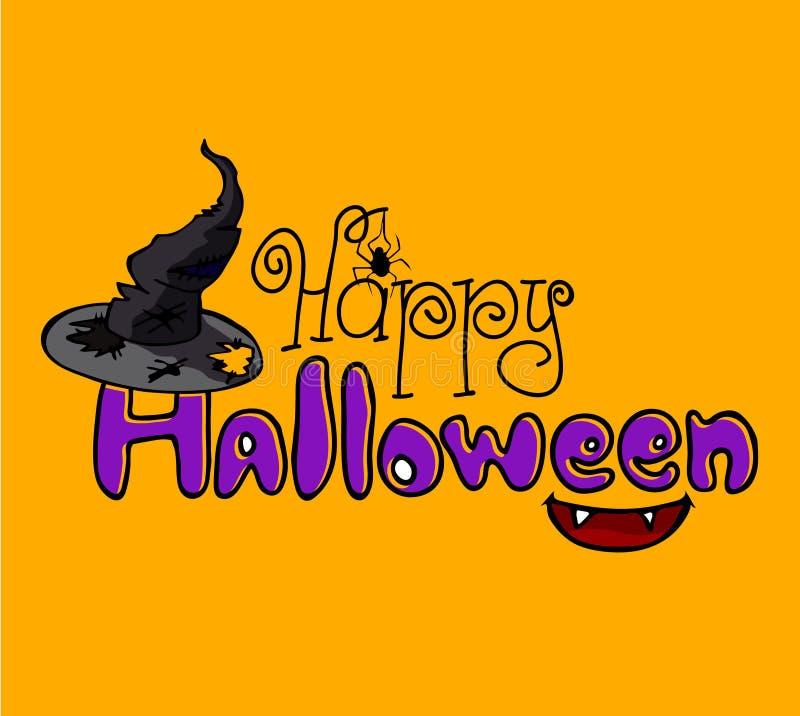Tarjeta de Helloween stock de ilustración