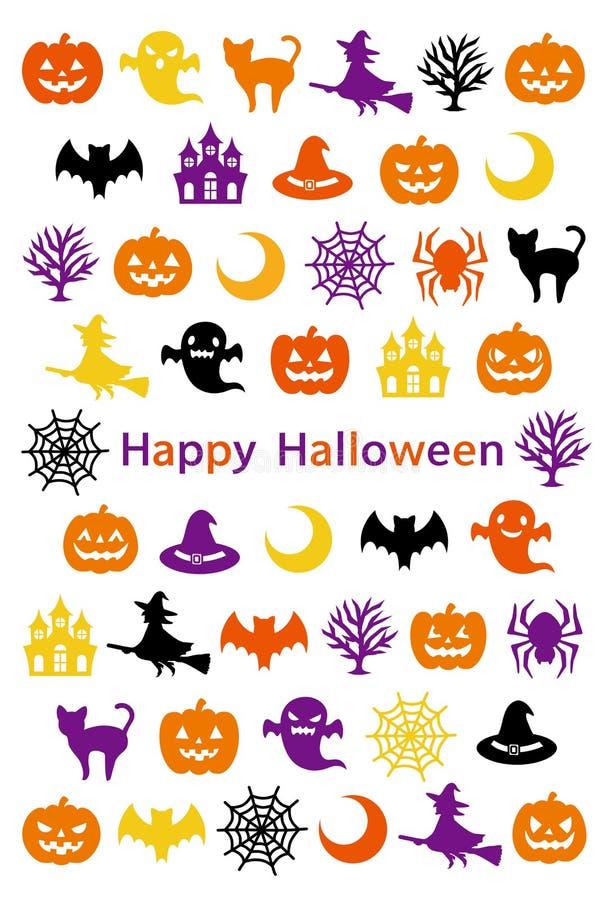Tarjeta de Helloween Víspera de Todos los Santos feliz ilustración del vector