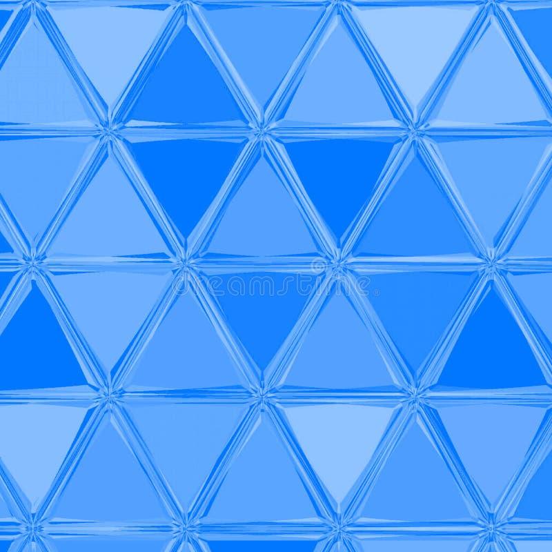 Tarjeta de la acuarela con los triángulos Forma geom?trica del dise?o gr?fico Modelo azul continuo creativo, fondo rico del extra stock de ilustración