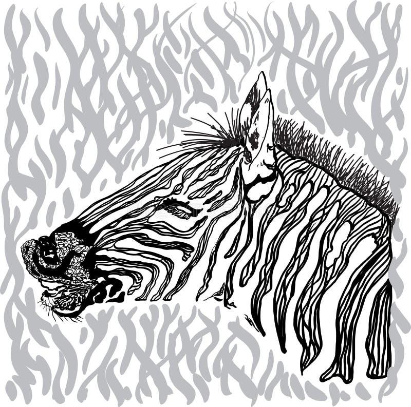 Tarjeta de la cebra libre illustration