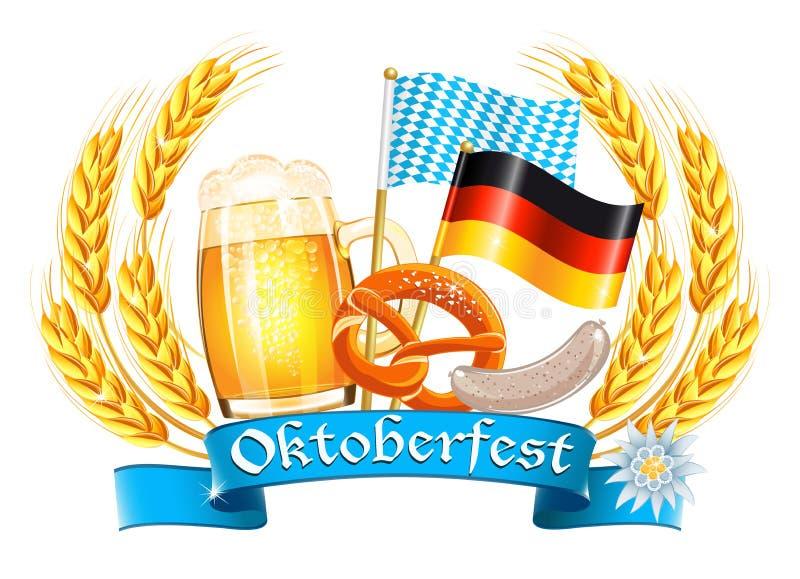 Tarjeta de la celebración de Oktoberfest imagenes de archivo