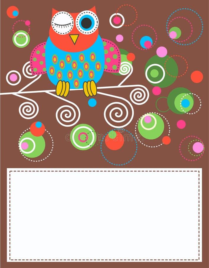 Tarjeta de la celebración o de la invitación ilustración del vector
