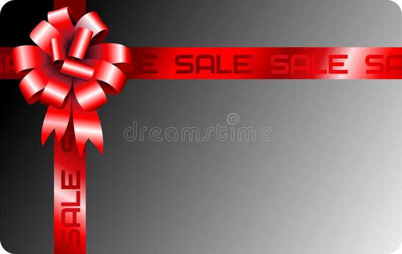 Tarjeta de la cinta del regalo del vector stock de ilustración