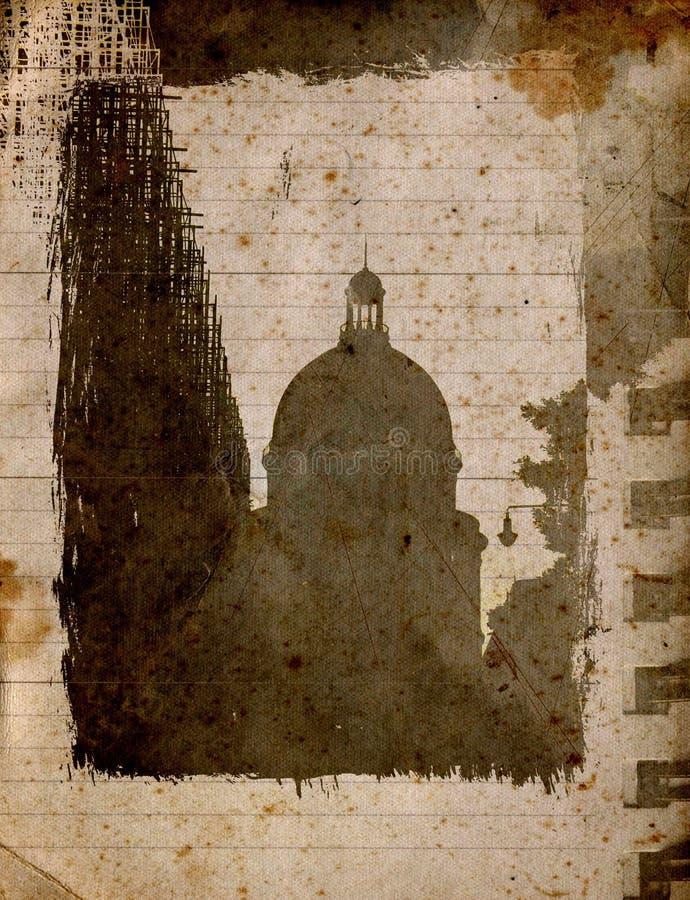 Tarjeta de la ciudad de Grunge libre illustration