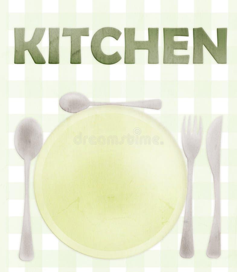 Tarjeta de la cocina foto de archivo