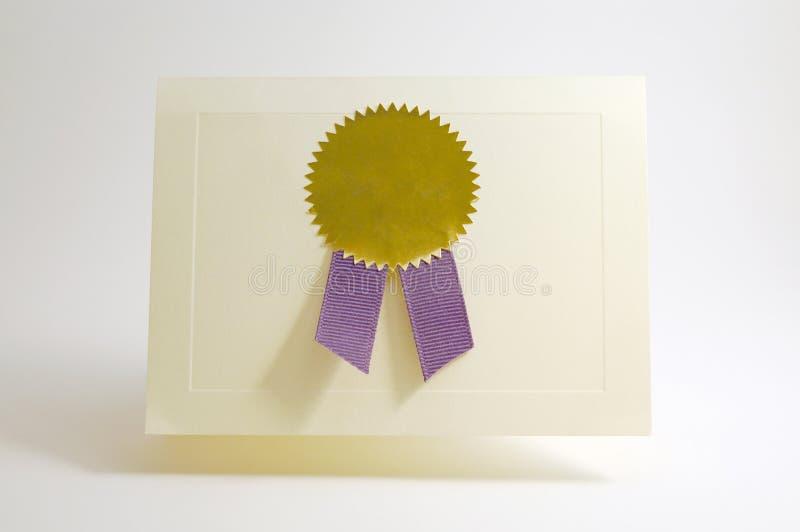 Tarjeta de la concesión foto de archivo libre de regalías