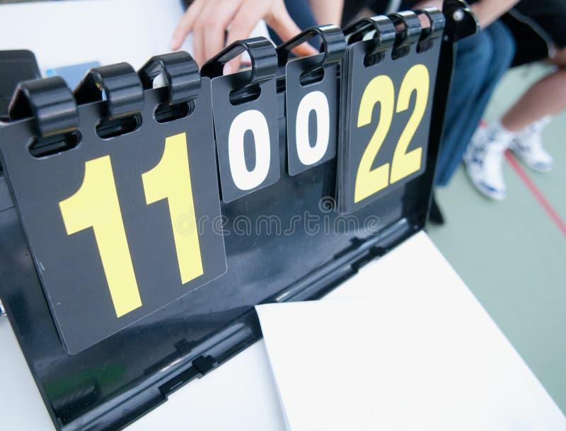 Tarjeta de la cuenta del tenis foto de archivo libre de regalías