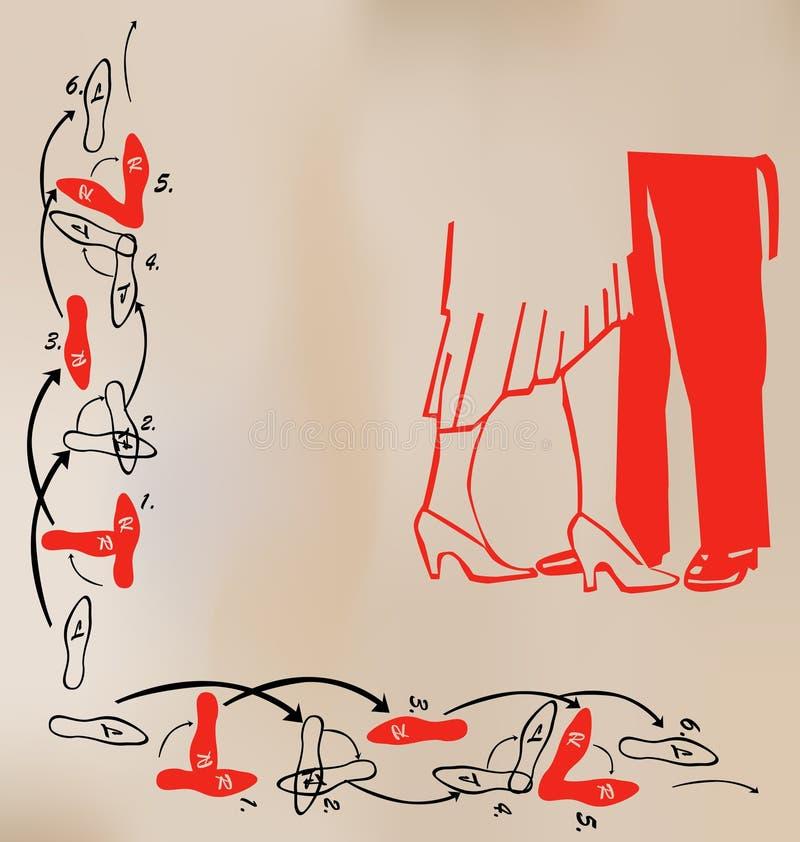Tarjeta de la danza ilustración del vector