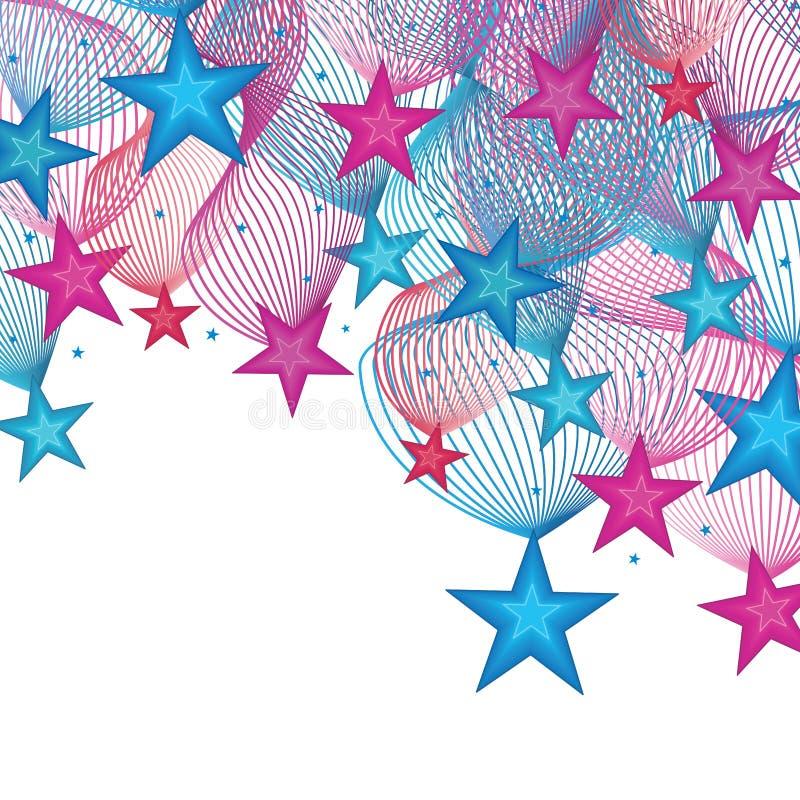 Tarjeta de la decoración de la estrella stock de ilustración
