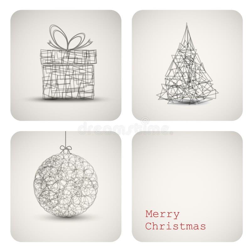 Tarjeta de la decoración de la Navidad del vector ilustración del vector