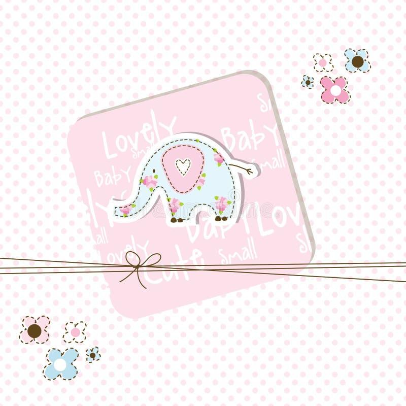 Tarjeta de la ducha de bebé ilustración del vector