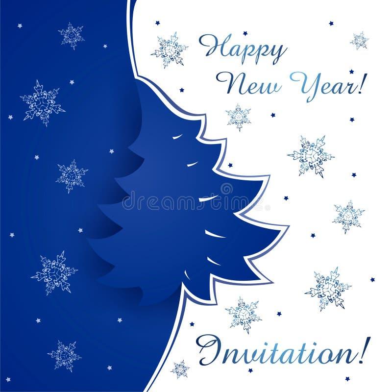 Tarjeta de la Feliz Año Nuevo ilustración del vector