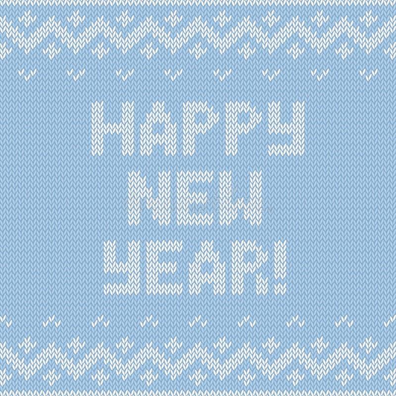 Tarjeta de la Feliz Año Nuevo 2015 con textura hecha punto libre illustration