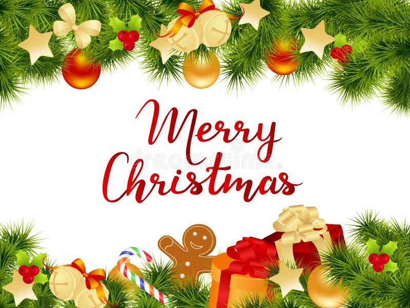 Tarjeta de la Feliz Navidad libre illustration