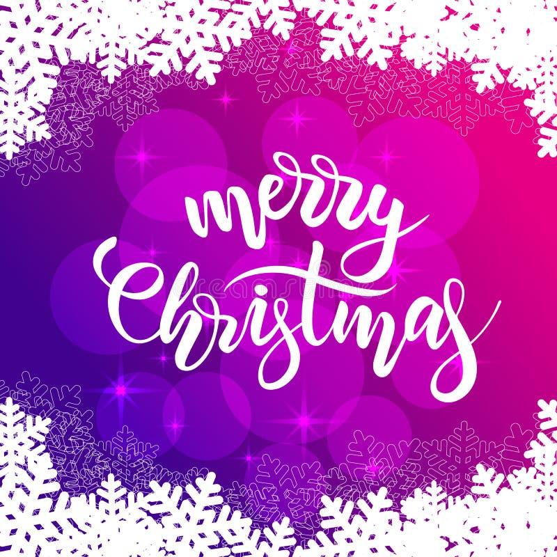 Tarjeta de la Feliz Navidad stock de ilustración