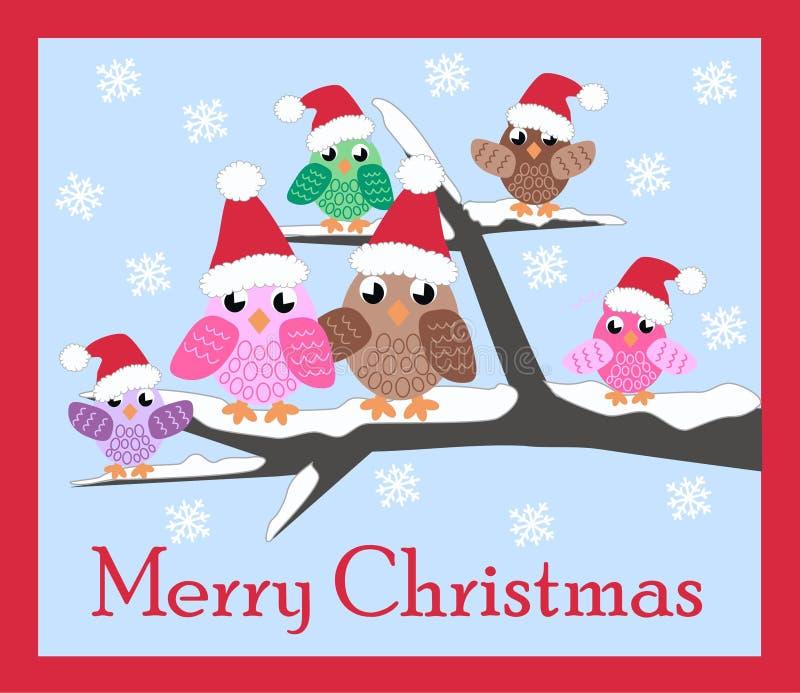 Tarjeta de la Feliz Navidad ilustración del vector