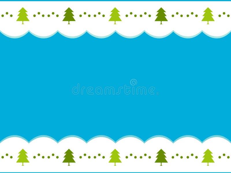 Tarjeta de la Feliz Navidad con los árboles Tarjeta festiva ilustración del vector