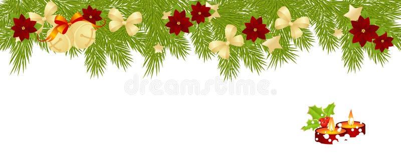 Tarjeta de la Feliz Navidad de regalos libre illustration