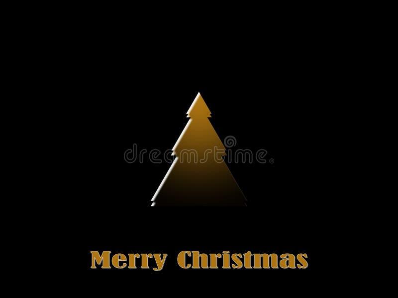 Tarjeta de la Feliz Navidad, oro, elegante, en fondo negro libre illustration