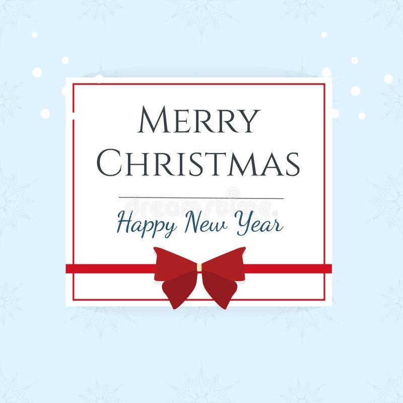 Tarjeta de la Feliz Navidad y de la Feliz Año Nuevo Ilustración del vector foto de archivo