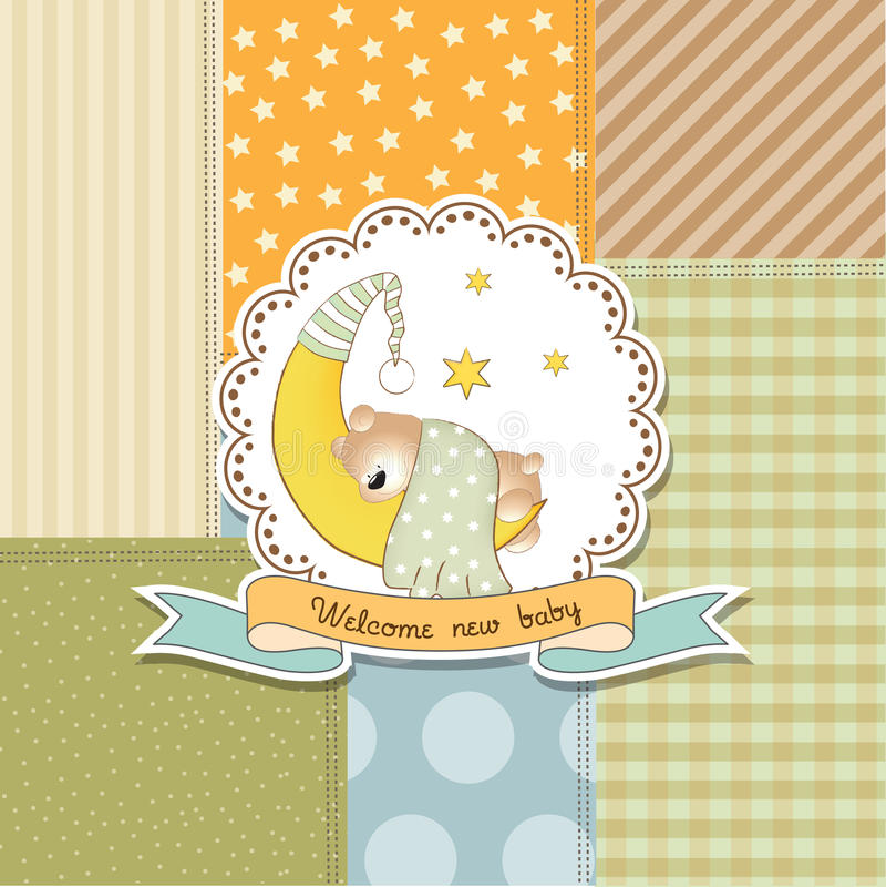 Tarjeta de la fiesta de bienvenida al bebé libre illustration