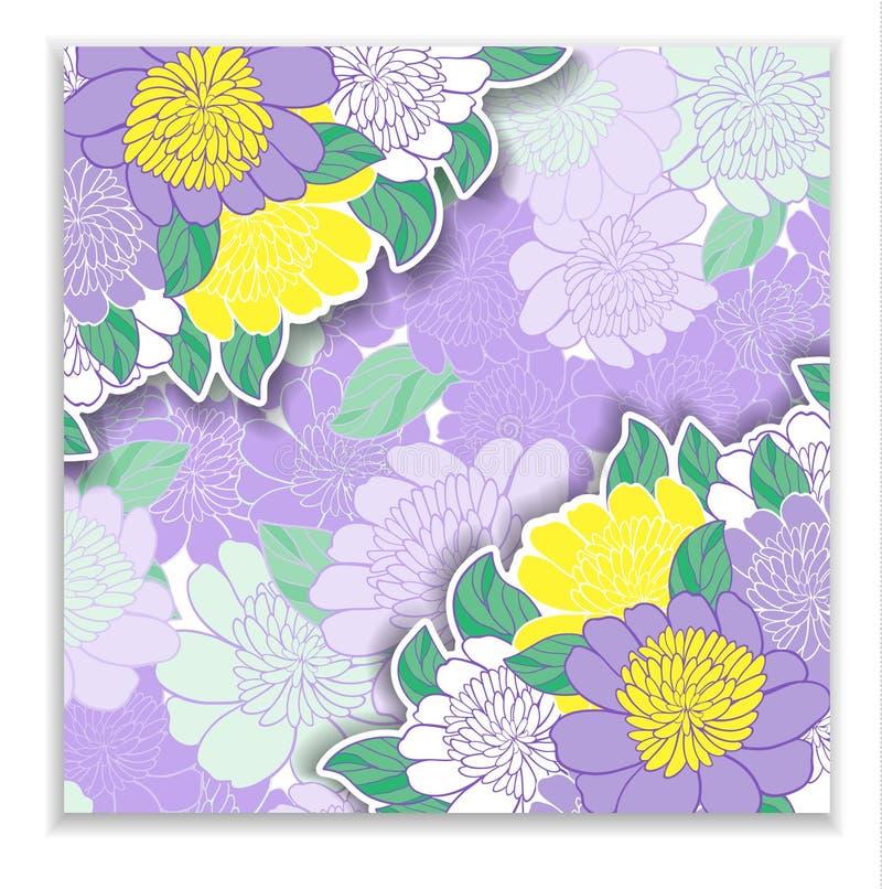 Tarjeta de la flor stock de ilustración