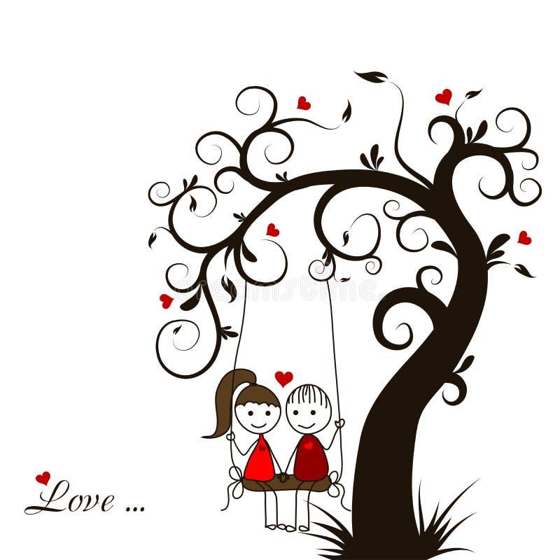 Tarjeta de la historia de amor,  stock de ilustración