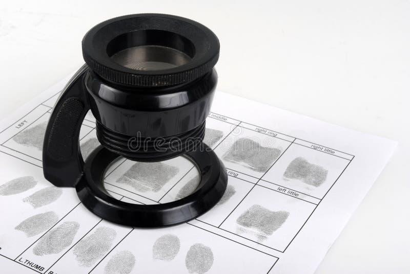 Tarjeta de la huella dactilar imágenes de archivo libres de regalías