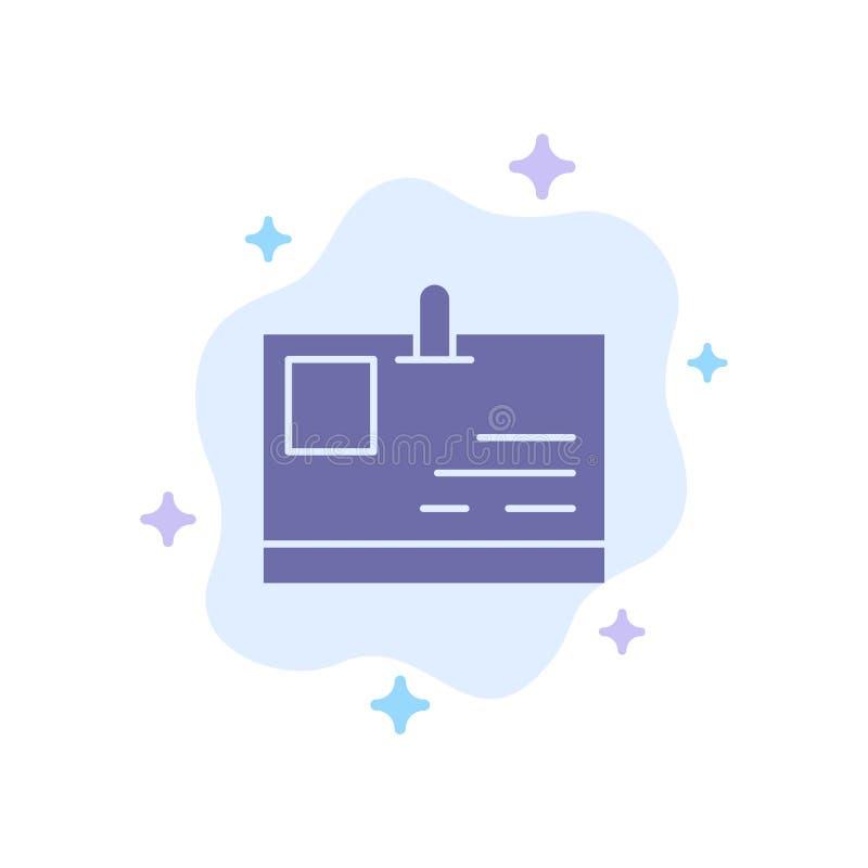 Tarjeta, tarjeta de la identificación, identidad, icono azul del paso en fondo abstracto de la nube libre illustration
