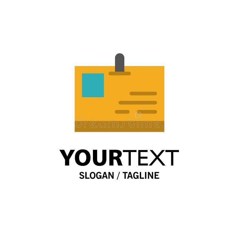 Tarjeta, tarjeta de la identificación, identidad, negocio Logo Template del paso color plano libre illustration