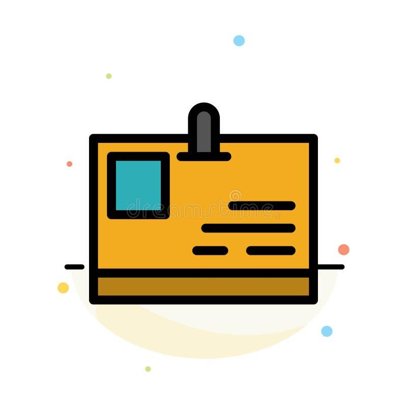 Tarjeta, tarjeta de la identificación, identidad, plantilla plana del icono del color del extracto del paso libre illustration