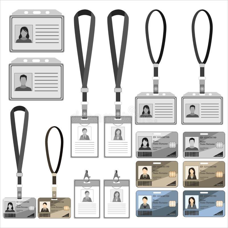 Tarjeta de la identificación de la plantilla libre illustration
