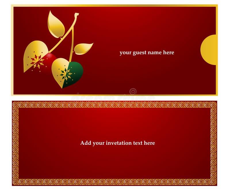 Tarjeta de la invitación stock de ilustración