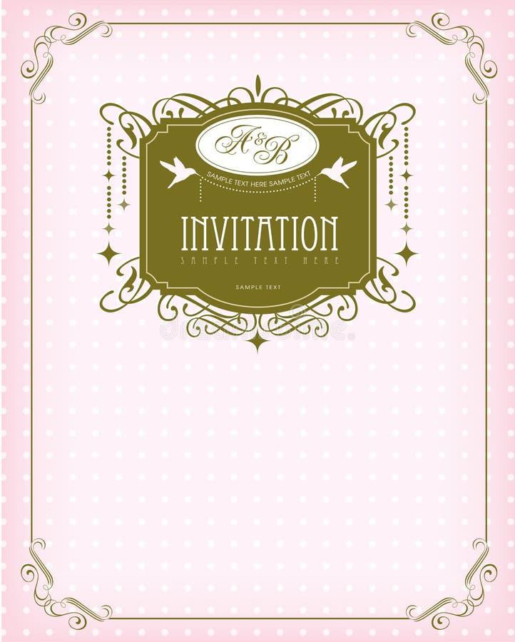 Tarjeta de la invitación libre illustration