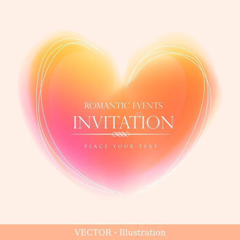 Tarjeta de la invitación. libre illustration