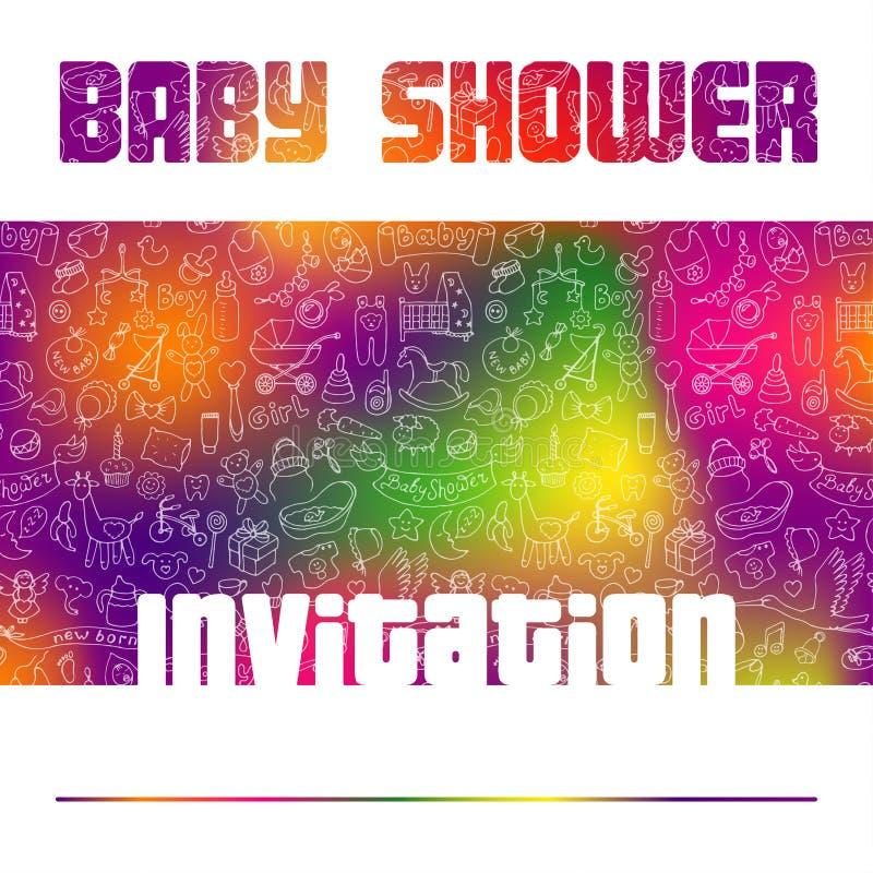 Tarjeta de la invitación de la fiesta de bienvenida al bebé libre illustration