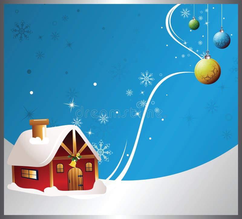Tarjeta de la invitación de la fiesta de Navidad ilustración del vector