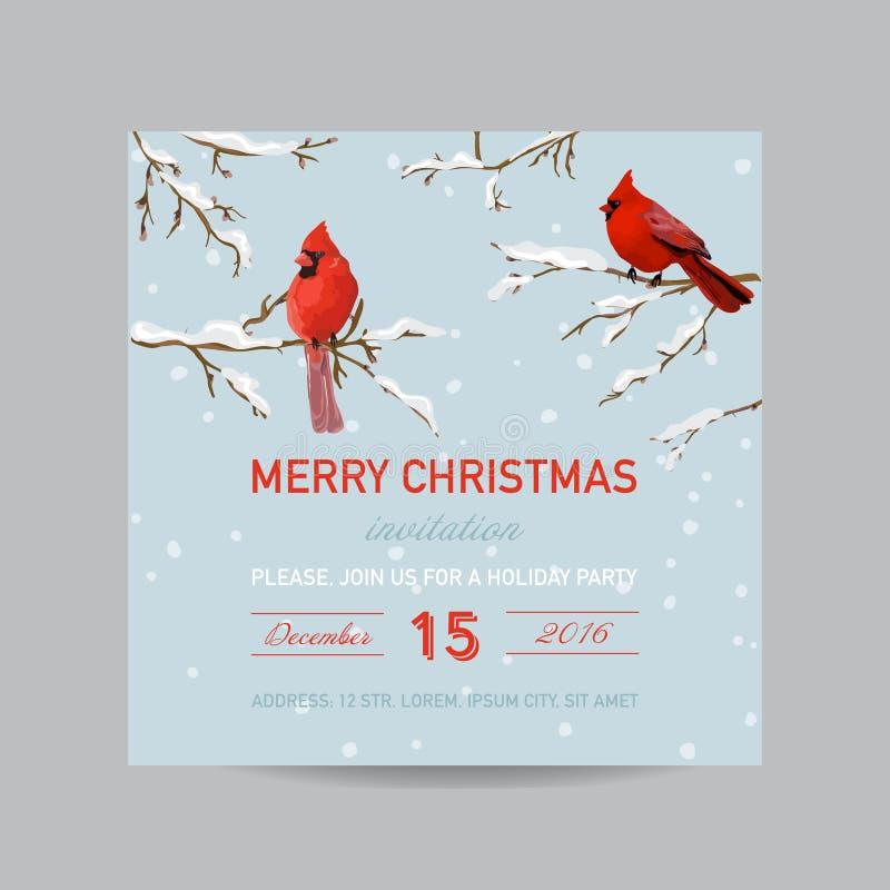 Tarjeta de la invitación de la Navidad ilustración del vector
