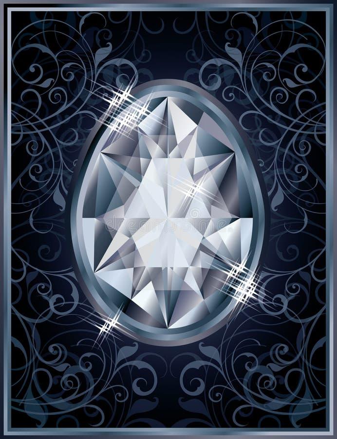 Tarjeta de la invitación del huevo de Diamond Easter libre illustration