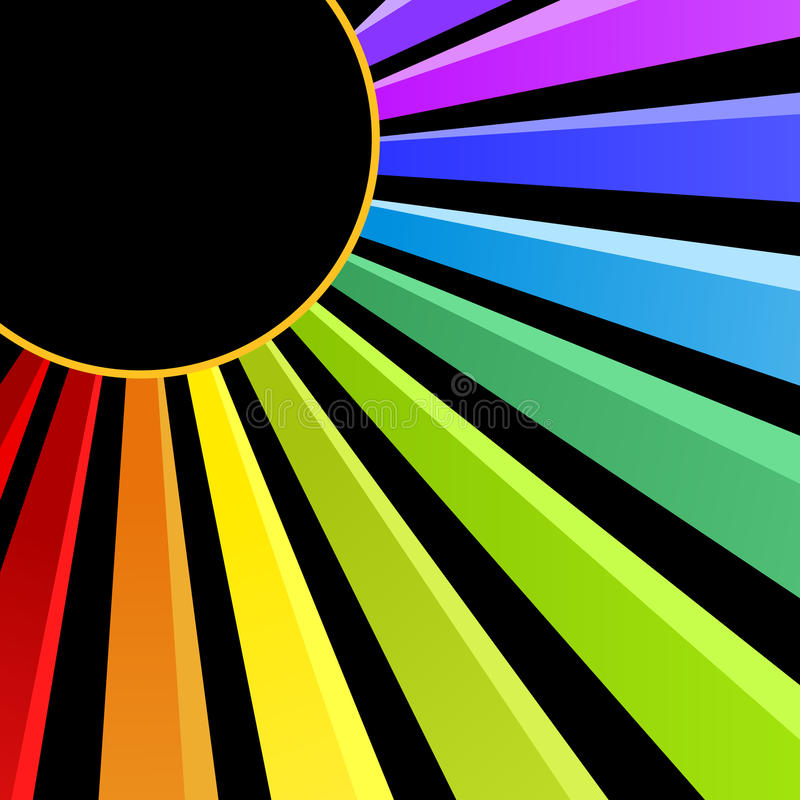Tarjeta de la invitación del partido de la noche de Sun del arco iris ilustración del vector
