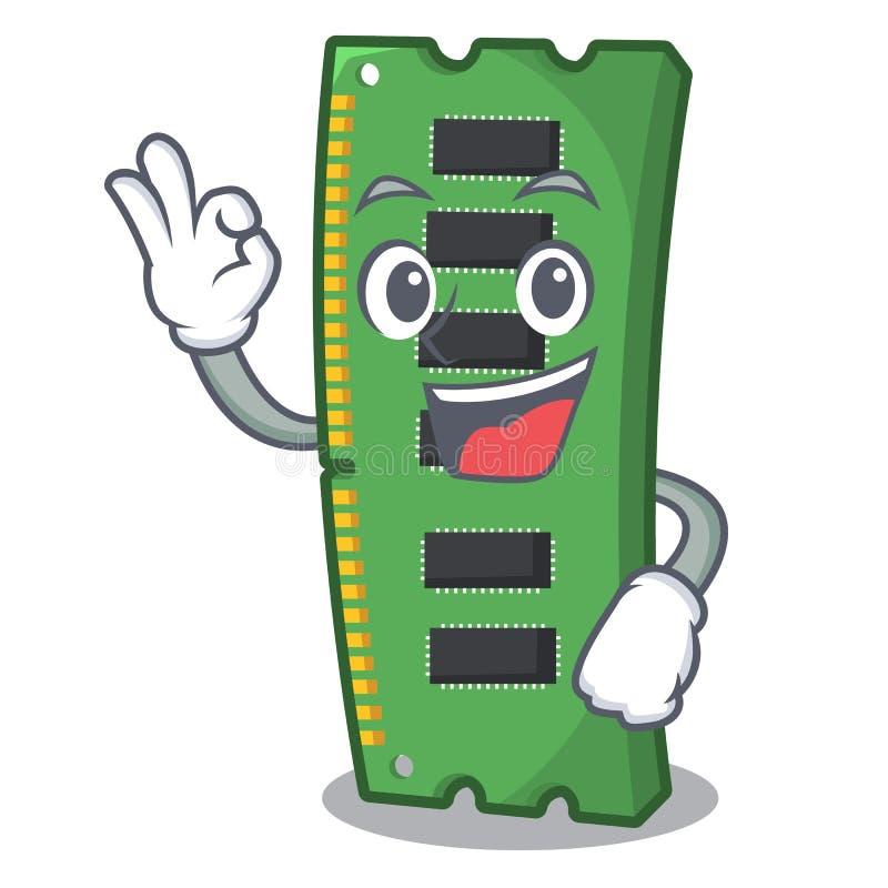 Tarjeta de la memoria ram de la autorización la forma de la mascota libre illustration
