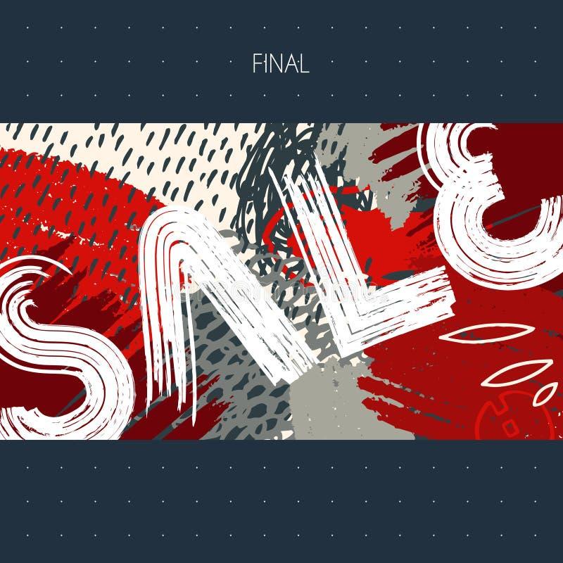 Tarjeta de la muestra de la venta stock de ilustración