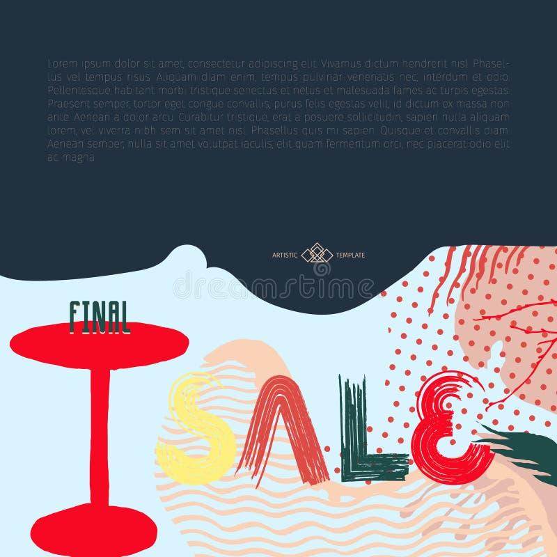 Tarjeta de la muestra de la venta libre illustration