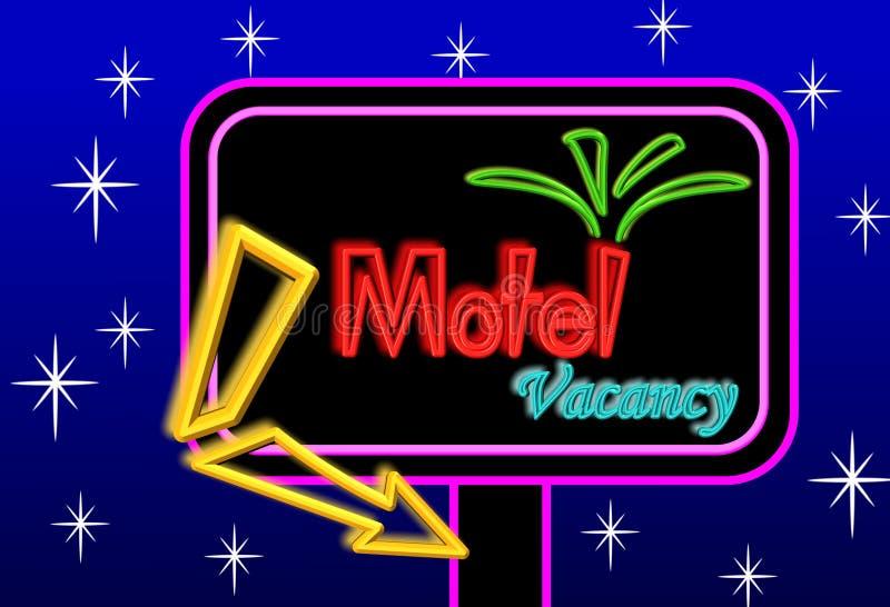 Tarjeta de la muestra del motel stock de ilustración