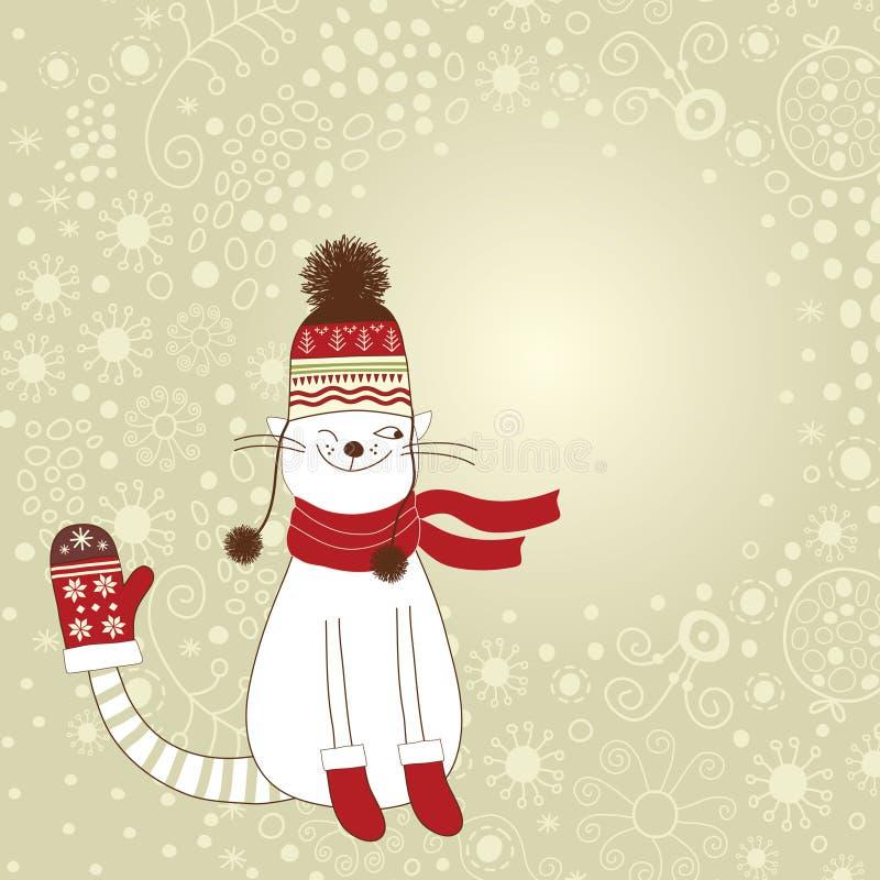 Tarjeta de la Navidad y del Año Nuevo libre illustration